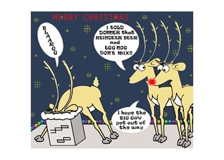 who's your froggie christmas Christmas Funny Humour  Reindeer personalised online greeting card