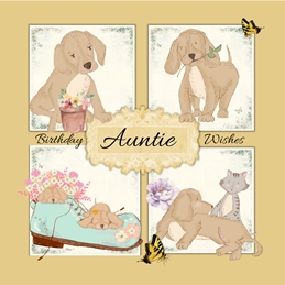Her Nibs  Auntie Birthday personalised online greeting card