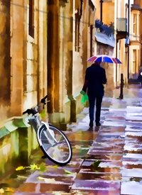 art Oxford rain cycle umbrella people general z%a personalised online greeting card