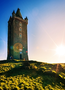 NorthLight Photo-Art Scrabo Tower 4 Photography andbc, Scrabo Tower, landscape, scenic, countryside, peaceful, tranquil, Strangford Lough, Ards Peninsula, Newtownards,  personalised online greeting card