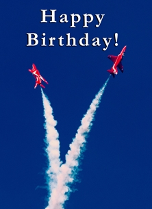 birthday ^red Arrows^, RAF, aircraft, aviation, jets, aeroplane, airplane, plane personalised online greeting card