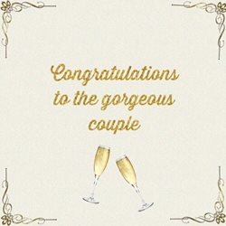 wedding couple, celebrate, champagne  z%a personalised online greeting card