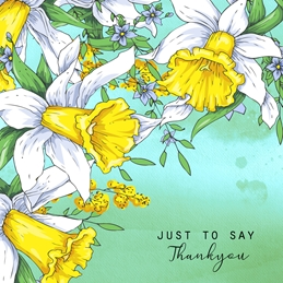 Thank THANKYOU flowers floral personalised online greeting card