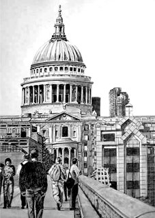 General artwork London buildings for-him for-her personalised online greeting card