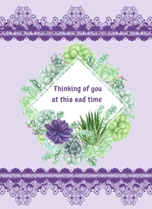 Her Nibs  Thinking of you Bereavement,Loss personalised online greeting card