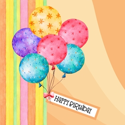 Birthday BIRTHDAY BALLOONS celebrate personalised online greeting card
