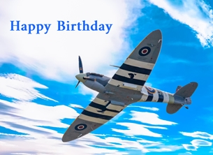 greeting cards by O Scrimshaw Photography Spitfire birthday card