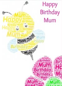 Birthday mum bee flower insect mother mummy  personalised online greeting card