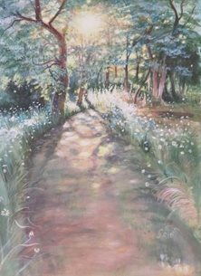 art path, trees, walk, sun, for-him, for-her personalised online greeting card
