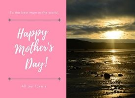 Mothers sunset picturesque beauty calm tranquil love mum mother parent  personalised online greeting card