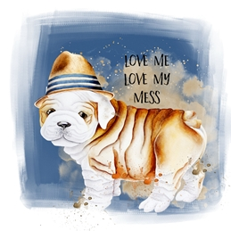 General Humorous, Bulldog, Animal, For-Him, For-Her, Birthday, Thanks,  personalised online greeting card