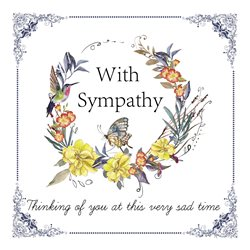 sympathy floral wreath z%a personalised online greeting card