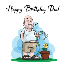 Birthday BIRTHDAY DAD fun quirky personalised online greeting card