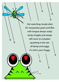 who's your froggie in the rain General Frogs personalised online greeting card