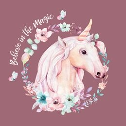 General Unicorn, Magical, Mystical, Fantasy, Fairytale children personalised online greeting card
