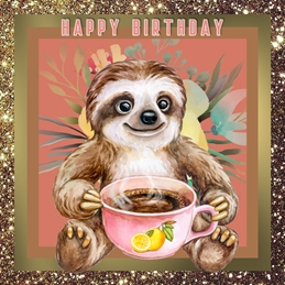 Birthday BIRTHDAY SLOTHS personalised online greeting card