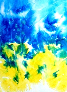 Art abstract blue yellow for-her personalised online greeting card