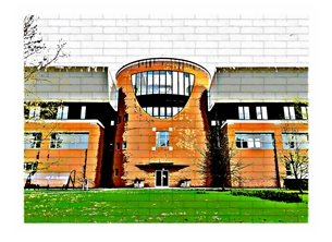 General UoR Reading University Whiteknights green architecture lighthearted personalised online greeting card