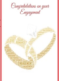 Engagement engagement love romance  personalised online greeting card