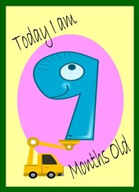 Birthday Colourful Digger 9 personalised online greeting card