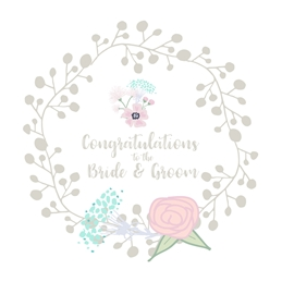 Libby and Millie Congratulations Wedding Bride & Groom personalised online greeting card
