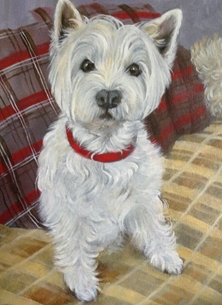 General art Dog portrait personalised online greeting card