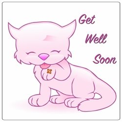 Get Well  cat personalised online greeting card