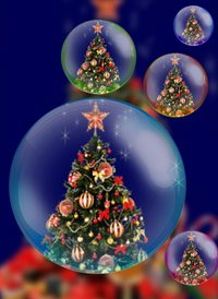 christmas trees z%a personalised online greeting card