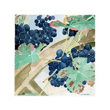 art grapevine picture, grapes, blank card, garden, watercolour painting, plants, fruit personalised online greeting card