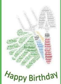 Birthday gardening,, tools  personalised online greeting card