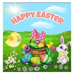 Bellacards Easter Easter  Happy, playful, cute, festival, family, decorations, gifts, chocolate, celebrate, Sunday, holy, holiday personalised online greeting card