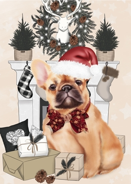 CHRISTMAS dogs personalised online greeting card