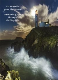 General Lighthouse Waves Cliff  personalised online greeting card