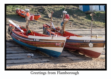 Photography general General, boats, Yorkshire Coast, Flamborough, Local Interest, sea,  personalised online greeting card