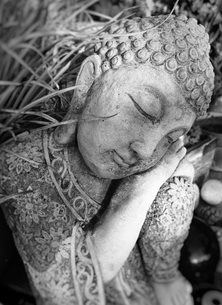 Photography buddha sleeping peaceful peace mono relax wishes charming chilled texture shape statue personalised online greeting card