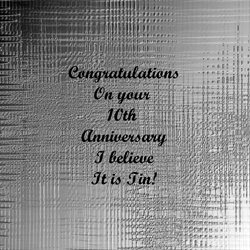 Anniversary for-him, for-her, tin, celebrate, joy, uplifting personalised online greeting card