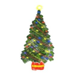 Christmas  tree twinkles lights winter festival green red yellow white decorated personalised online greeting card