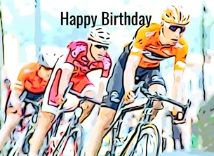 Birthday, boys, girls, son, grandson, dad, sport bike cycling race bicycle child children -him -her for-him for-her for-child personalised online greeting card