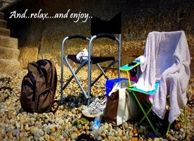 General  vacation holiday beach relax timeout wish you were here love chill z%a personalised online greeting card
