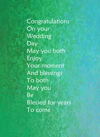 Congratulations on wedding