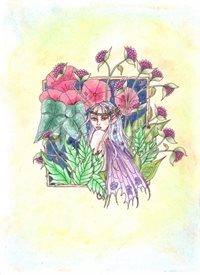 General fairy, flowers, fantasy personalised online greeting card