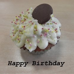 Birthday cake food cupcake  personalised online greeting card