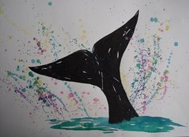 General whales, sea, marine personalised online greeting card