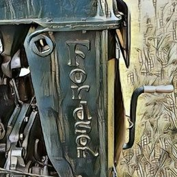 General Tractor, cumbria, restored, lake district, farming, engine, vintage, major, texture personalised online greeting card
