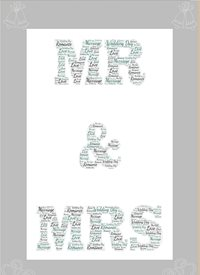 Wedding wedding grey mr & Mrs  personalised online greeting card