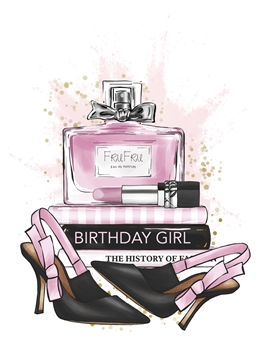 Birthday Girl Fashion Card - A5