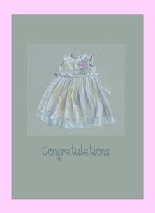 baby girl personalised online greeting card