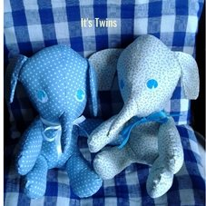 baby baby elephant toys twins for-her babies  personalised online greeting card