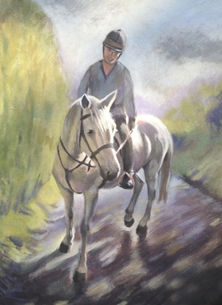 Art Cormack III Horse portrait fine art painting horses personalised online greeting card