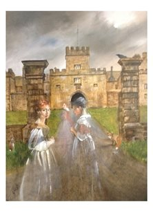 Wildart Late for the ball ' Hoghton tower art ghosts castle personalised online greeting card